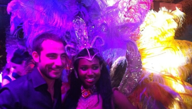 אמיר מהאח הגדול עם רקדנית ברזילאית