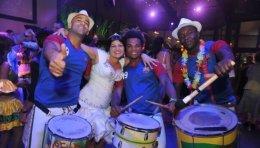 המתופפים של הלהקה הברזילאית