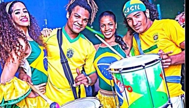 להקה ברזילאית בקבלת הפנים