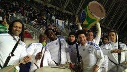 להקת בטוקדה במשחק של נבחרת ישראל