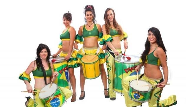 מתופפות להקה ברזילאית