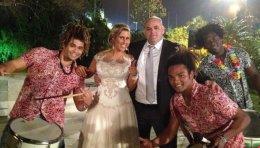 מתופפים ברזילאים בחתונה