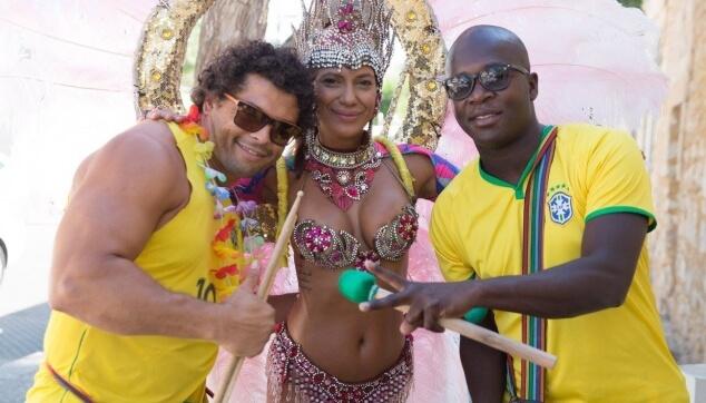 מתופפים ברזילאים למסיבה