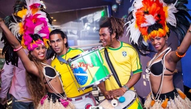 קבלת פנים ברזילאית במסיבה